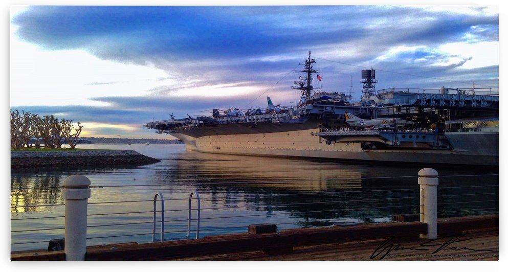 USS Midway docked in San Diego, CA by Giovanni Tartaglia