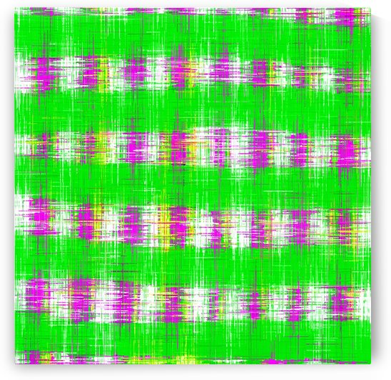 plaid pattern abstract texture in green pink white by TimmyLA