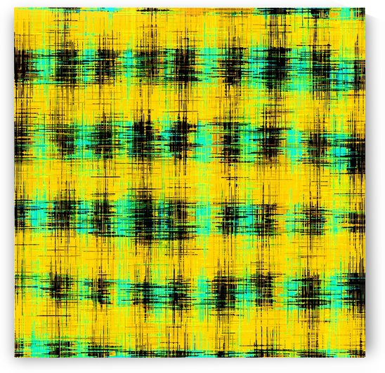 plaid pattern abstract texture in yellow green black by TimmyLA