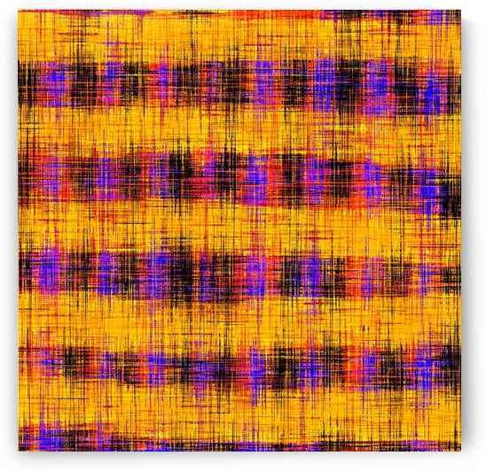 plaid pattern abstract texture in orange yellow pink purple by TimmyLA