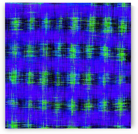 plaid pattern abstract texture in blue green black by TimmyLA