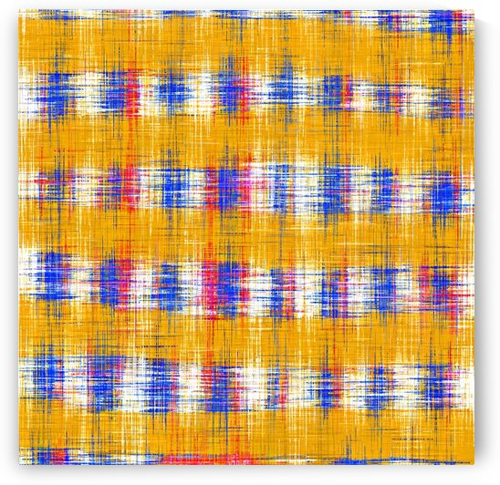 plaid pattern abstract texture in yellow blue pink by TimmyLA