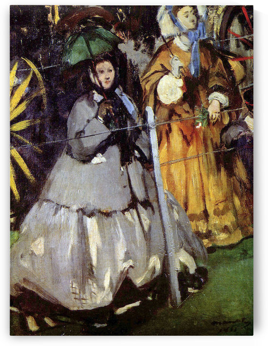 Spectators at the races by Manet by Manet