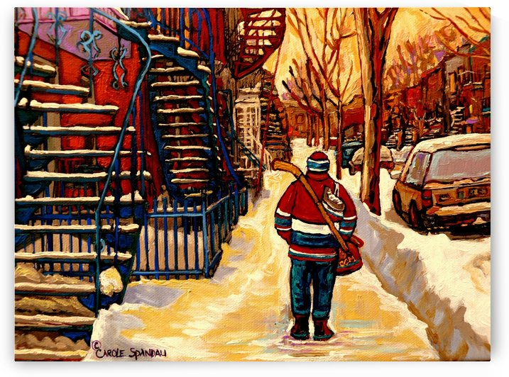AFTER THE HOCKEY GAME by Carole  Spandau