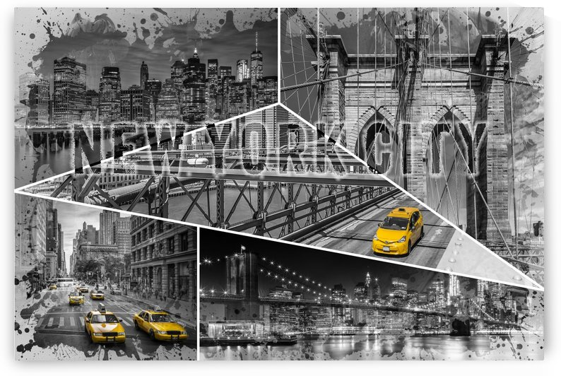 NEW YORK CITY Urban Collage No. 4 | colorkey by Melanie Viola