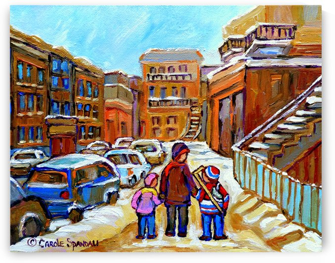 BEAUTIFUL DAY FOR A WALK IN MONTREAL by Carole  Spandau