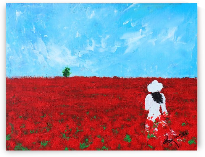 Being a Woman No4 - In a field of poppies by Kume Bryant