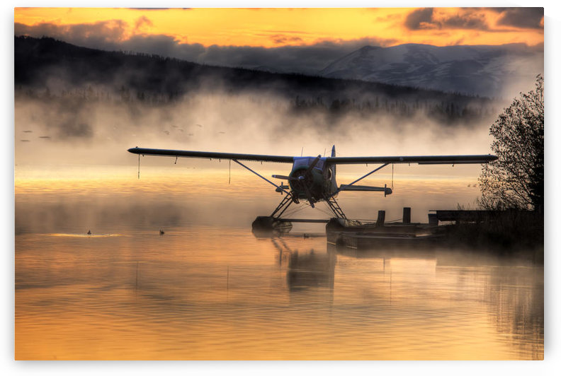 Floatplane Sitting On Beluga Lake, Homer, Kenai Peninsula, Alaska, Hdr Image by PacificStock