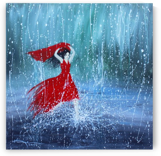 Being a Woman No7 - in the rain by Kume Bryant