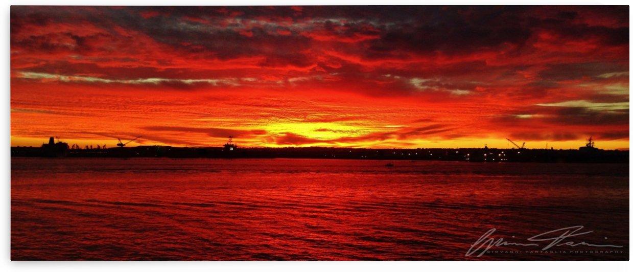 Fire Above The Harbor by Giovanni Tartaglia