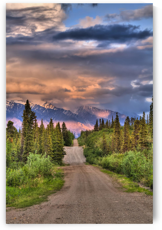 Colorful Clouds At Sunset Over The Wrangell Mountains And Nabesna Road In Wrangell-St. Elias National Park And Preserve, Southcentral Alaska, Summer, Hdr by PacificStock