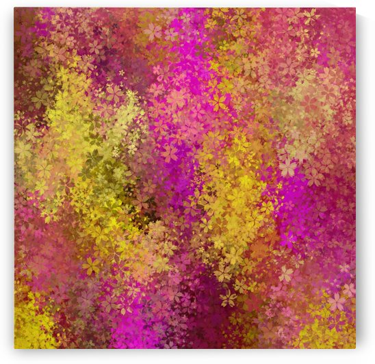 flower pattern abstract background in pink and yellow by TimmyLA