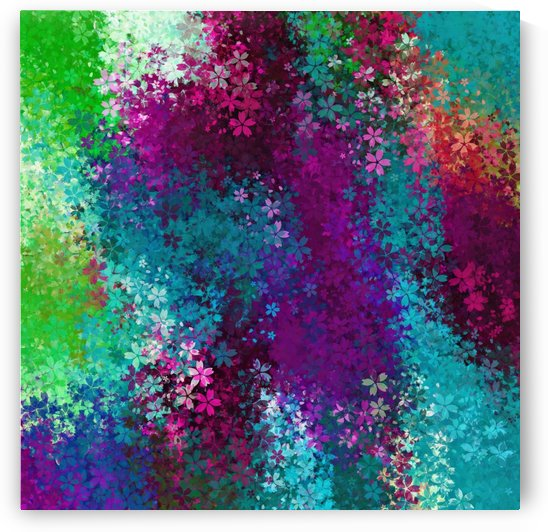 flower pattern abstract background in purple pink blue green by TimmyLA