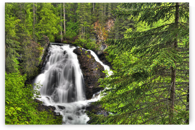 South Fork Eagle River Falls Near Eagle River, Southcentral Alaska, Summer, Hdr by PacificStock