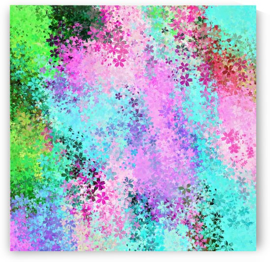 flower pattern abstract background in pink purple blue green by TimmyLA