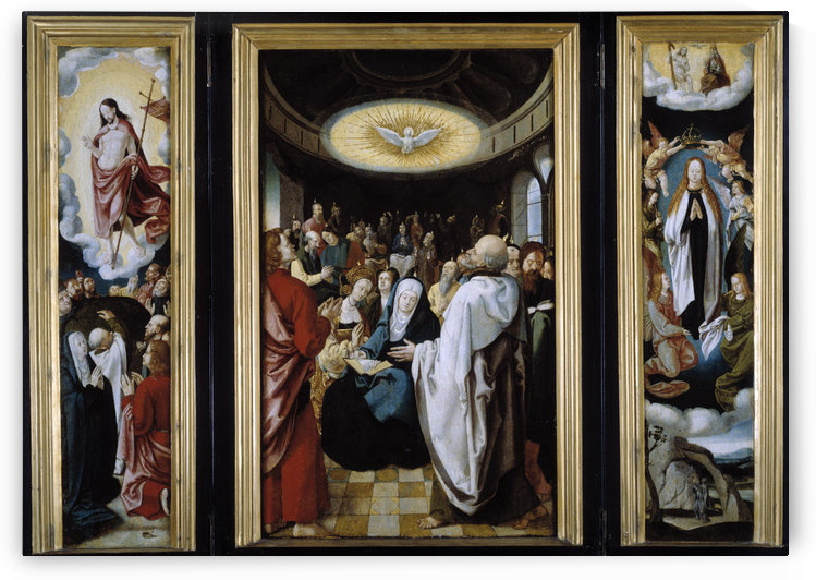 The Descent of the Holy Spirit by Lucas van Leyden