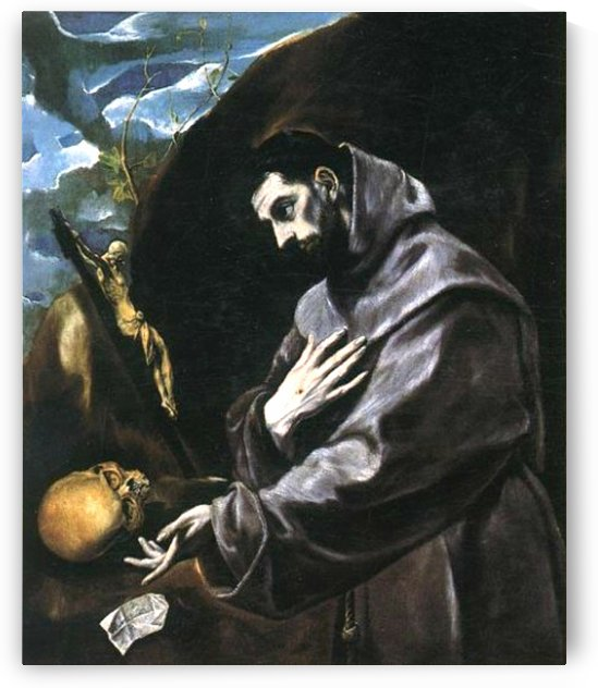 Saint Francis of Assisi in meditation by El Greco