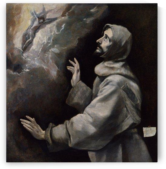 Saint Francis receiving the Stigmata by El Greco
