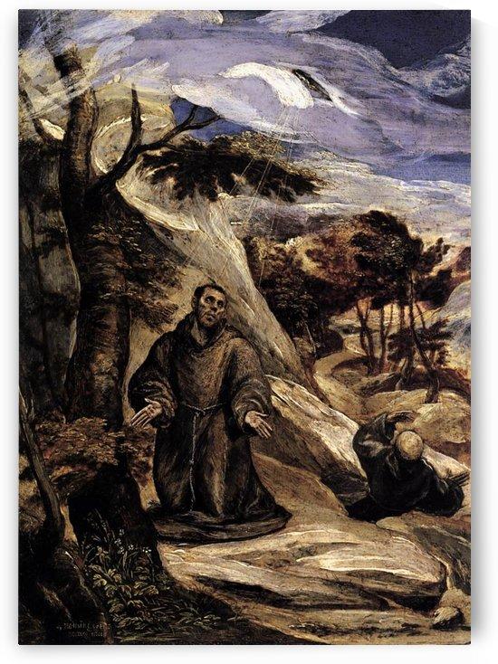 Saint Francis receiving the stigmata, 1571 by El Greco