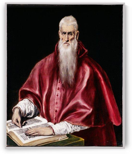 Saint Jerome as Scholar by El Greco