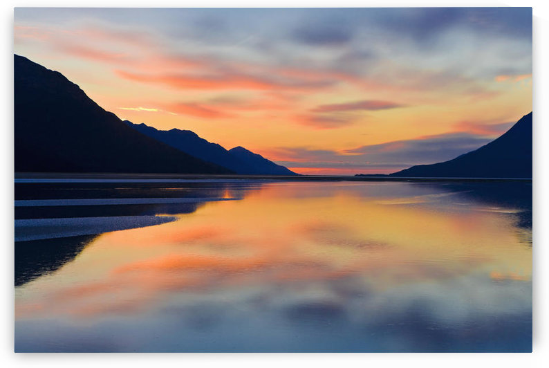 Sunset Colors Reflected In The Waters Of Turnagain Arm During Fall In Southcentral Alaska by PacificStock