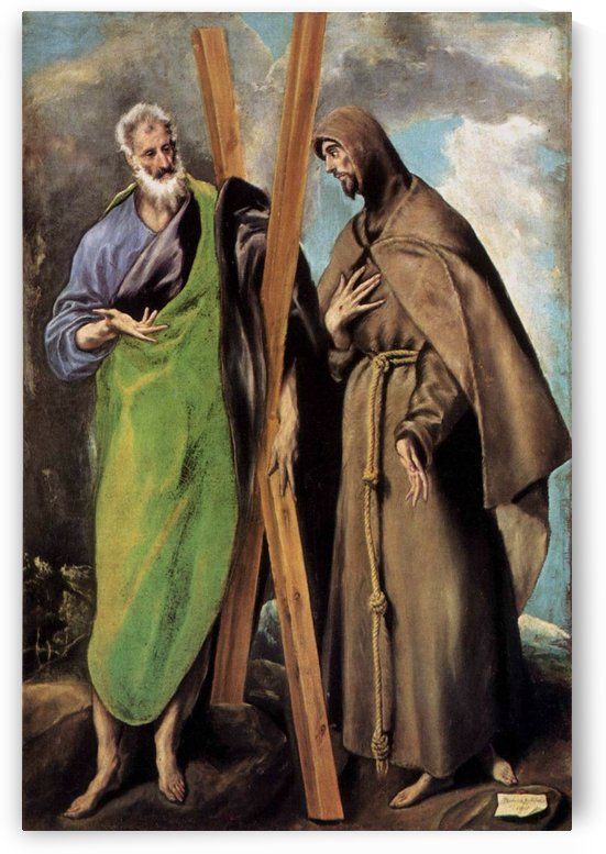 St. Andrew and St. Francis by El Greco
