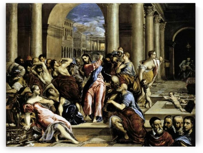 Cleansing of the temple by El Greco