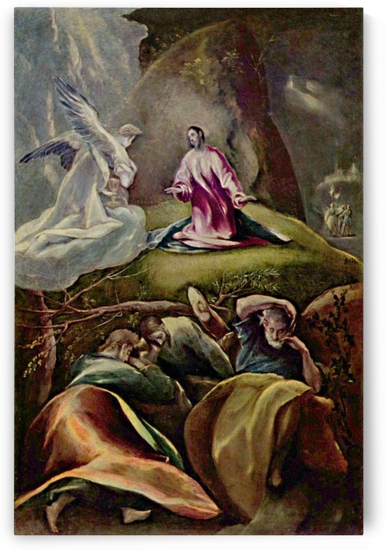 The Agony in the garden, 1610 by El Greco