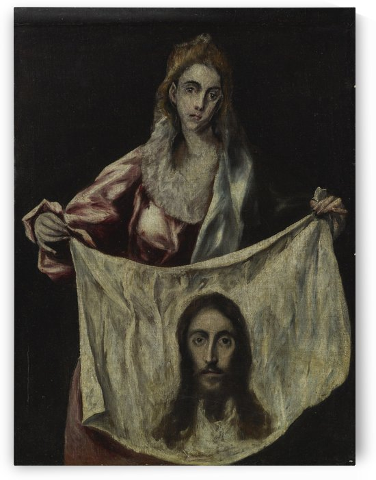 Saint Veronica holding the veil by El Greco