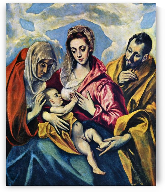 Holy Family with Saint Anne by El Greco