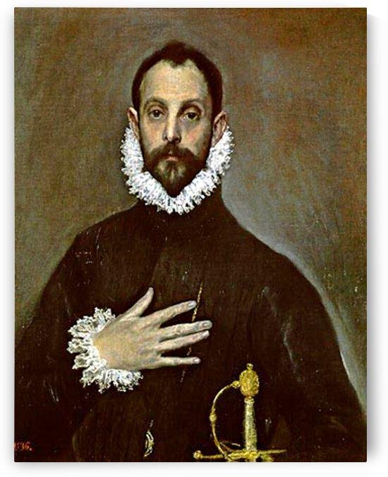 El caballero de la mano en el pecho by El Greco