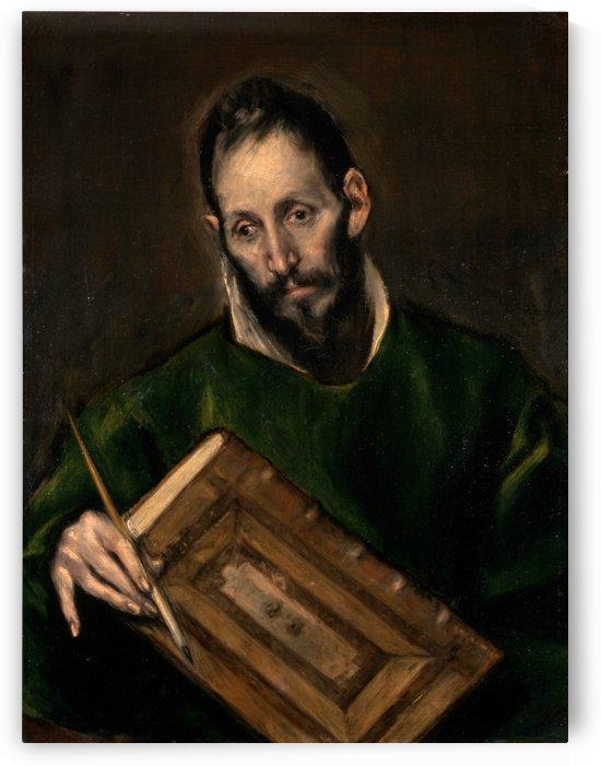 Saint Luke by El Greco