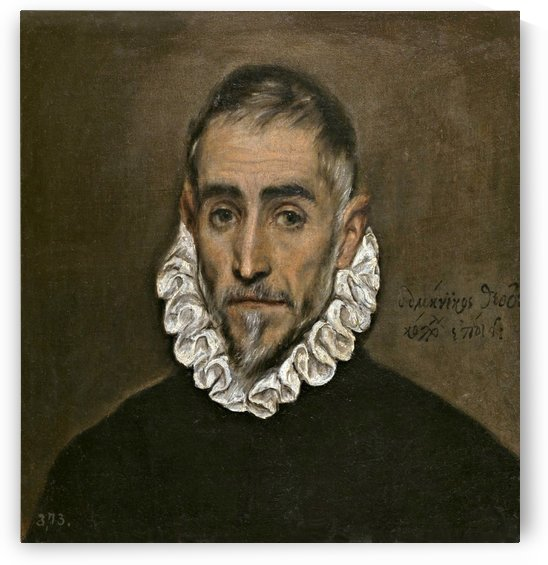 Portrait of an unknown gentleman by El Greco