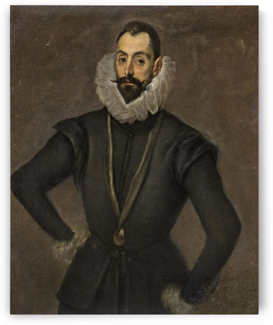 Portrait of gentleman by El Greco