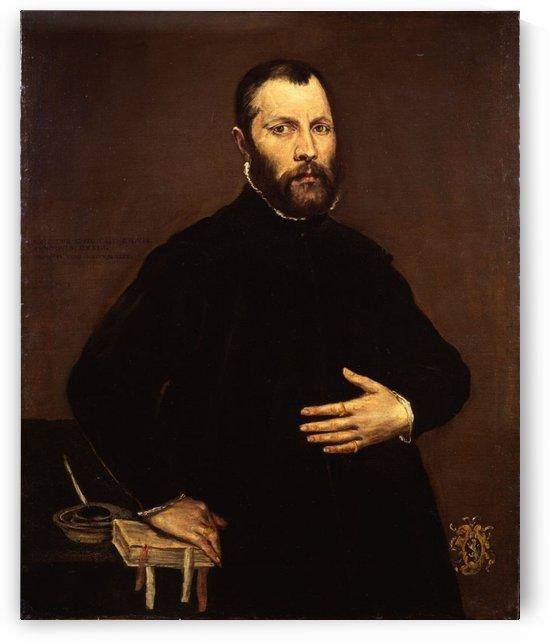 Portrait of a gentleman by El Greco
