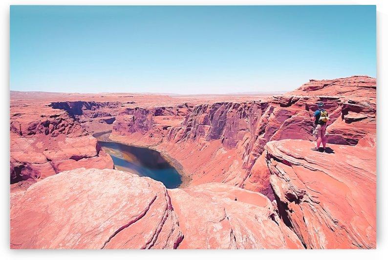 Desert at Horseshoe Bend, Arizona, USA by TimmyLA