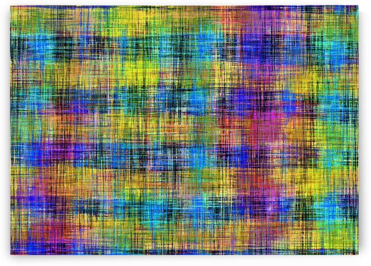 plaid pattern abstract texture in yellow pink blue by TimmyLA