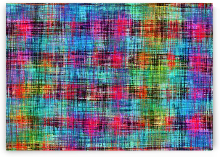 plaid pattern abstract texture in blue pink green yellow by TimmyLA