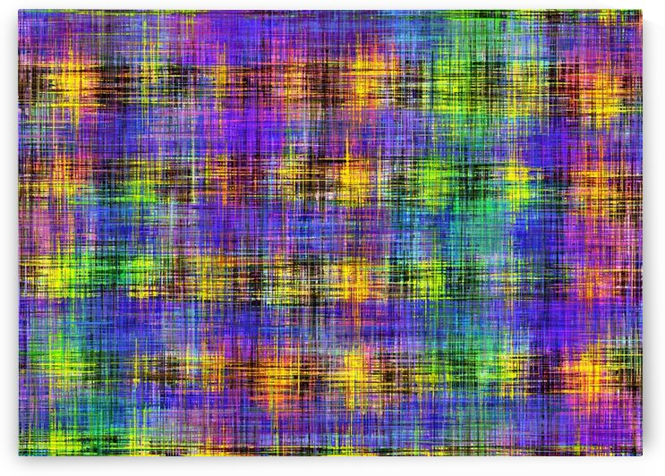 plaid pattern abstract texture in purple yellow green by TimmyLA