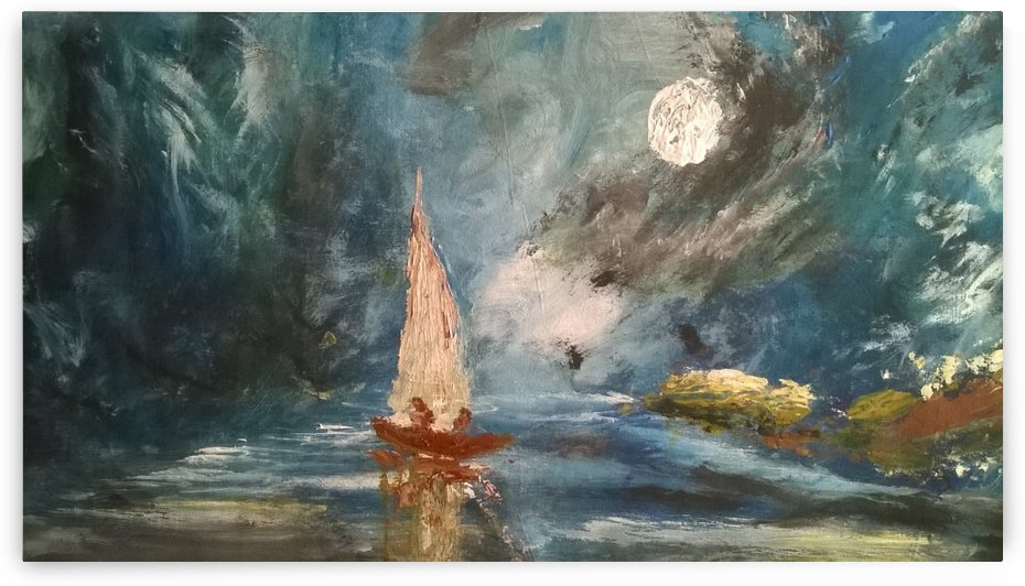 lost boat by Ahmad ALMASRI