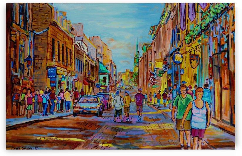 VIEUX MONTREAL STREET SCENE by Carole  Spandau