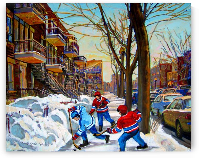 HOCKEY ON DEBULLION by Carole  Spandau