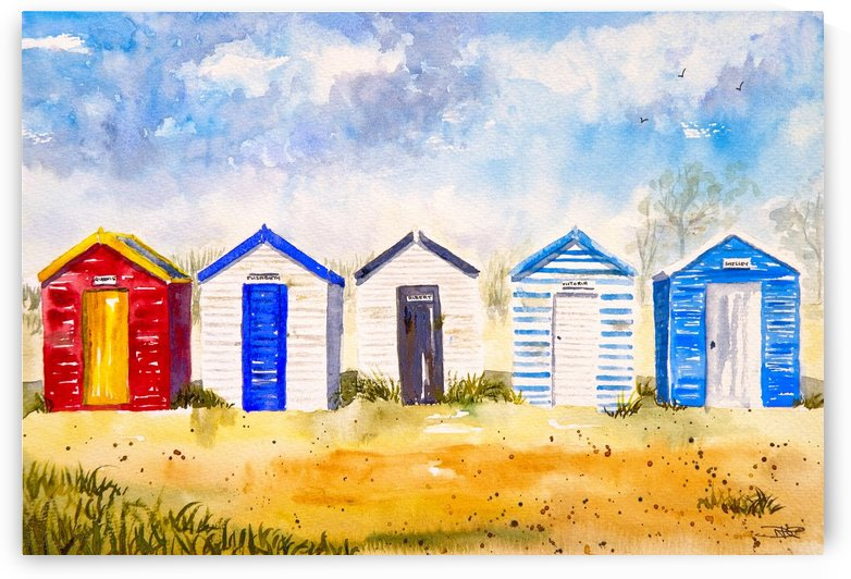 Beach Huts  by ClosetPainter
