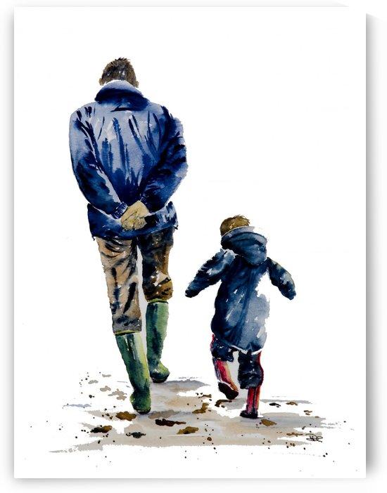 A Walk with Grandpa by DHWebbArt