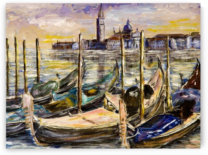 View of Venice  by DHWebbArt