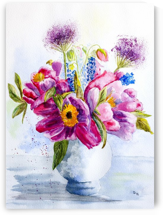 Summer Flowers in a China Vase  by ClosetPainter