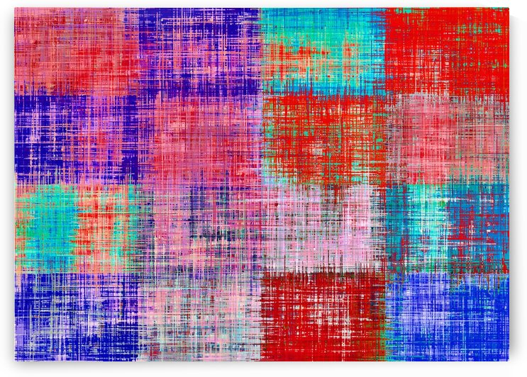 square plaid pattern texture abstract in red blue pink purple by TimmyLA