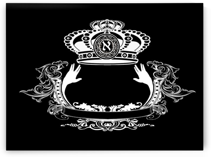 monogram crown  4 black by pinchos tewel