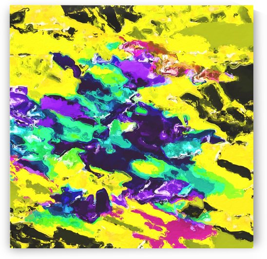 psychedelic splash painting abstract texture in yellow blue green purple by TimmyLA