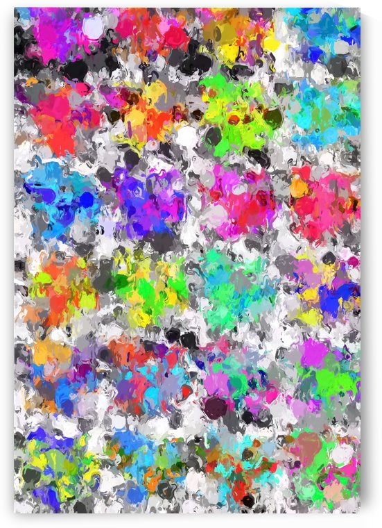 colorful psychedelic splash painting abstract texture in pink blue purple green yellow red orange by TimmyLA